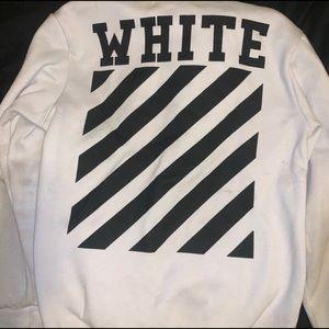 Off-White Plain White Hoodie (Men's Large)